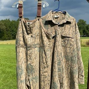 Camo Hunting Bobs/Coveralls & Camo Button Shirt